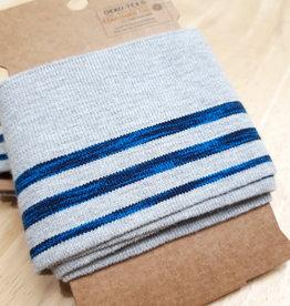 Nooteboom Cuff grijs met neon blauwe strepen - Nooteboom