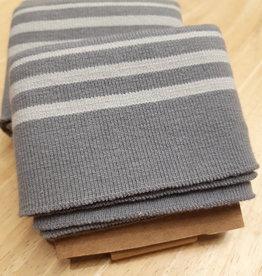 Nooteboom Cuff grijs met lichtgrijze strepen - Nooteboom