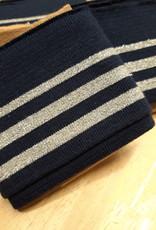 Nooteboom Cuff navy met 3 zilveren strepen - Nooteboom