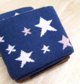 Nooteboom Cuff blauw met roze sterren - Nooteboom
