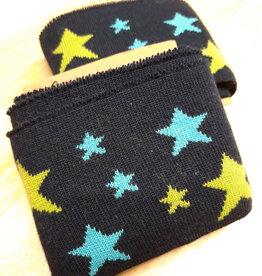 Nooteboom Cuff navy met blauw en groene sterren - Nooteboom