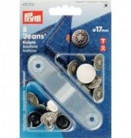 Prym Prym  - Jeansknopen zilver ster 17mm - 622 210