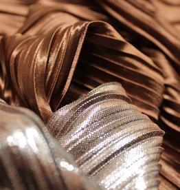 plissée brons glanzende folie