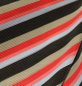 Multicolor plissée