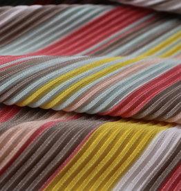 Multicolor pastel plissée