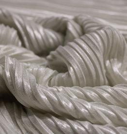 A La Ville Haute Couture plissée glanzend wit zilver