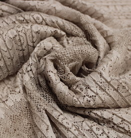 A La Ville Haute Couture kantplissée beige