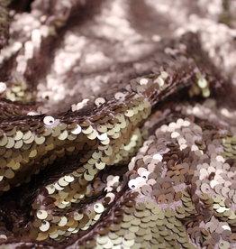 A La Ville Haute Couture Holografische paillettenstof roségold - goud