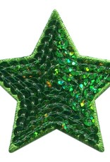 Brouwer applicatie pailletten groene ster