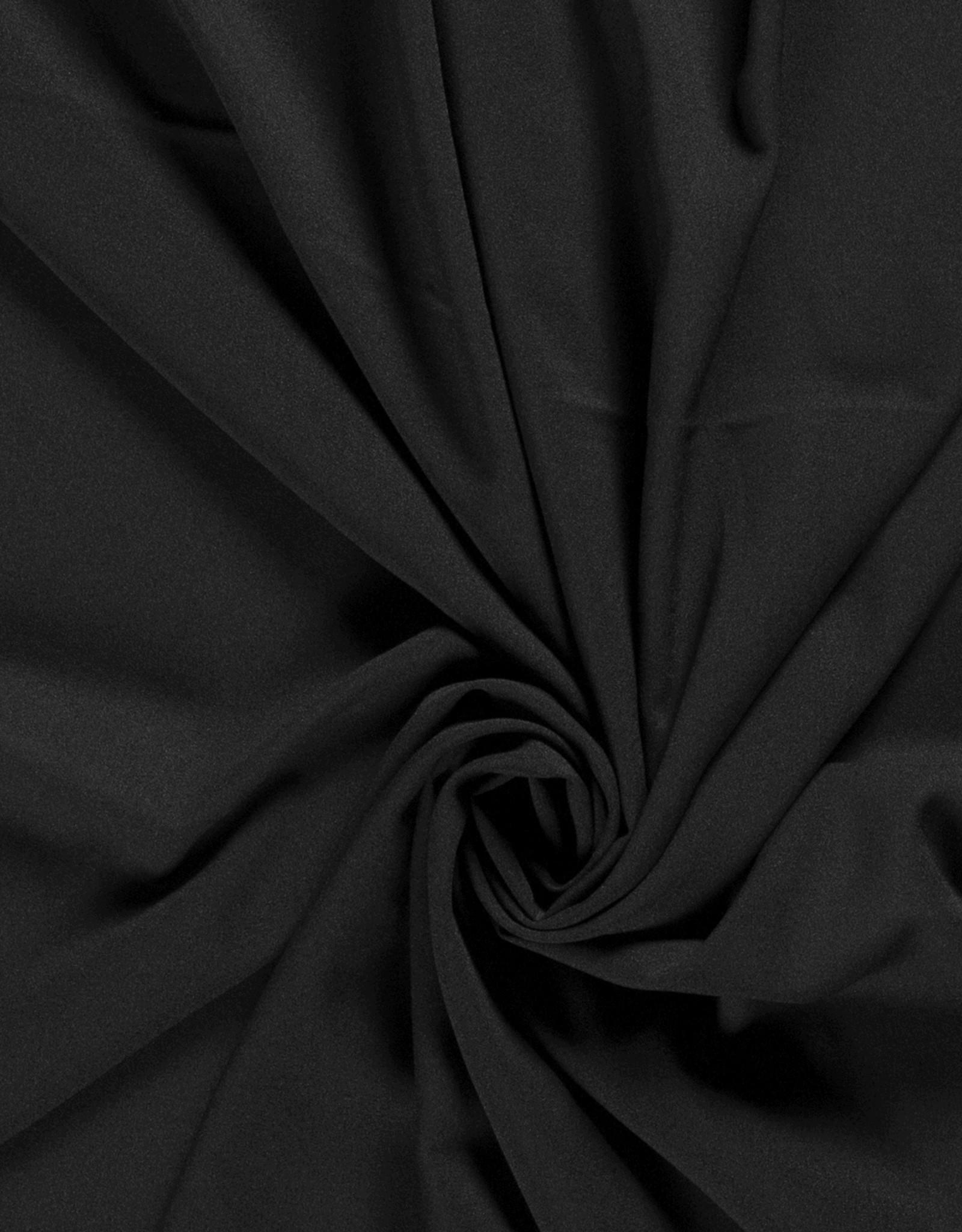 Nooteboom COUPON  Crepe georgette zwart black 105x140cm