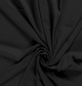 Nooteboom COUPON  Crepe georgette zwart black 105x140cm