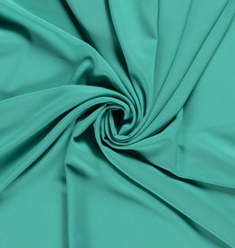 Nooteboom COUPON Crepe georgette turquoise 160x140cm