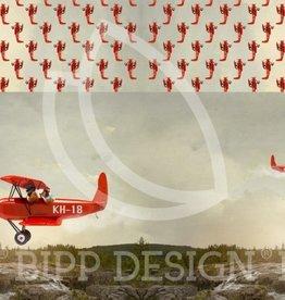 Bipp Paneel Galvin rood vliegtuig - Bipp Design