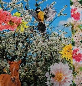 Qjutie Digitaal paneel spring flowers en birds