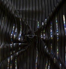 Lotte Martens Paneel plisse black kousa holografisch - Lotte Martens