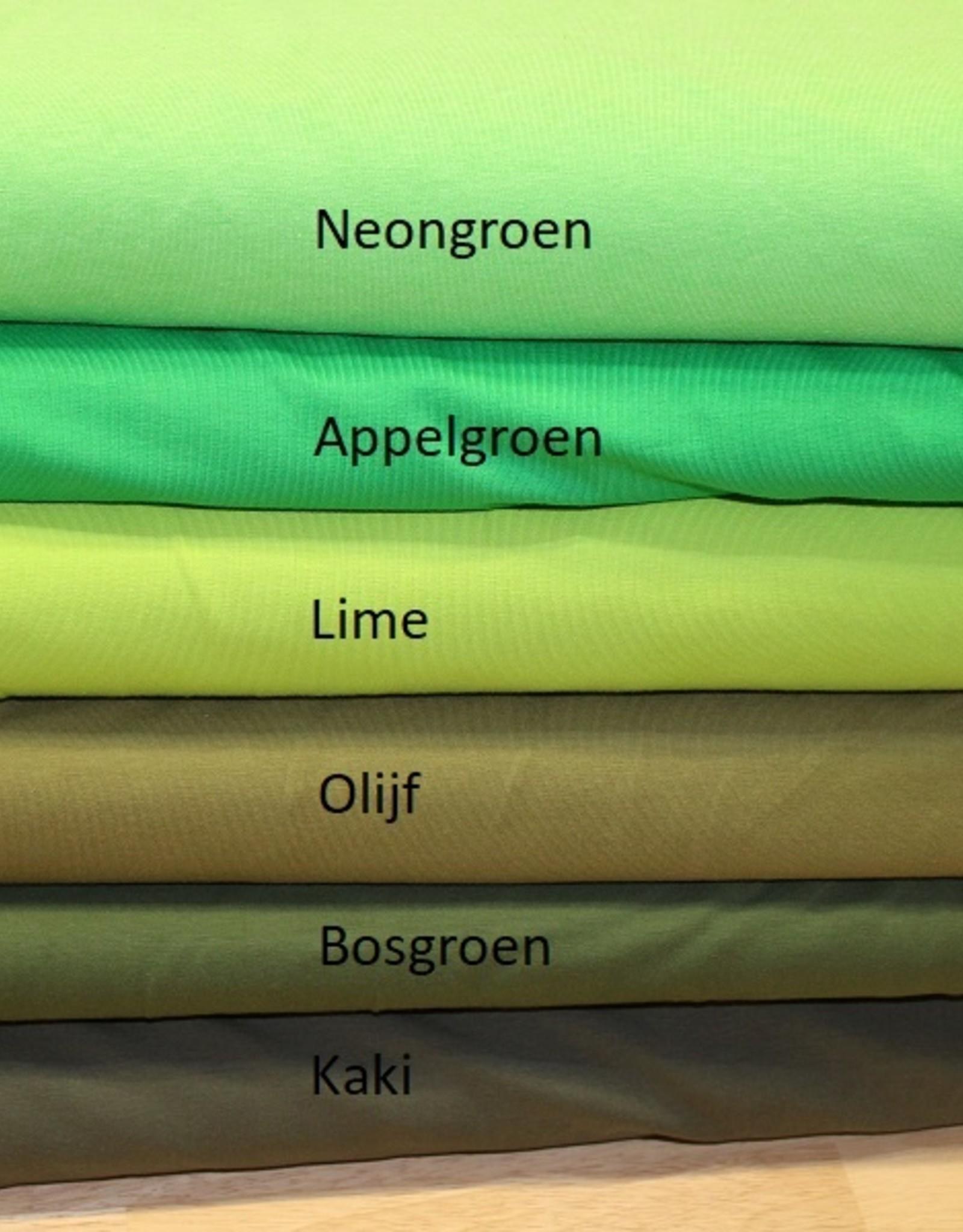 Uni tricot appelgroen