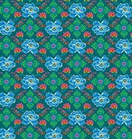 Poppy Katoen poplin phae blue