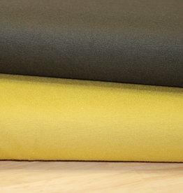 COUPON Viscosejersey geel 40x150cm