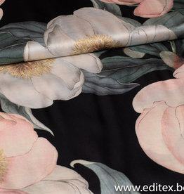 Fibre Mood Karlene - satijnstof bloemenprint - Fibre Mood
