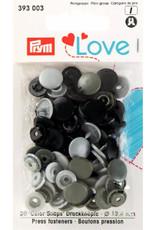 Prym Prym - love drukknopen groen/grijs/zwart - 393 003