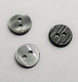 knoop glanzend grijs 12mm