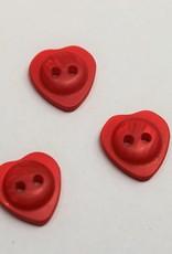 knoop hartje 14mm rood