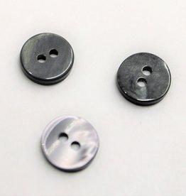 knoop glanzend grijs 9mm