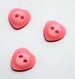 knoop hartje 14mm roze