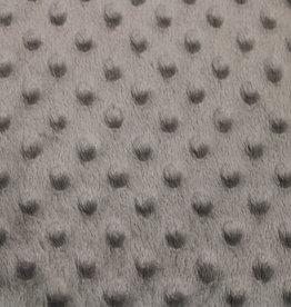 COUPON Minky Fleece Grijs 40x150cm