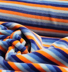 Nicky Velours blue/orange stripe