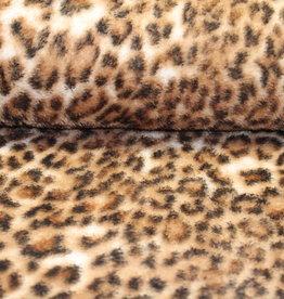 Fleece leopard bruin gevlekt