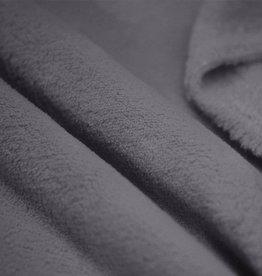 COUPON Welnessfleece donkergrijs 45x150cm