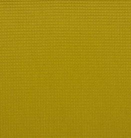 Poppy COUPON  Wafel katoen oker 60x145cm
