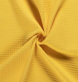 COUPON Wafel katoen geel 35x140cm