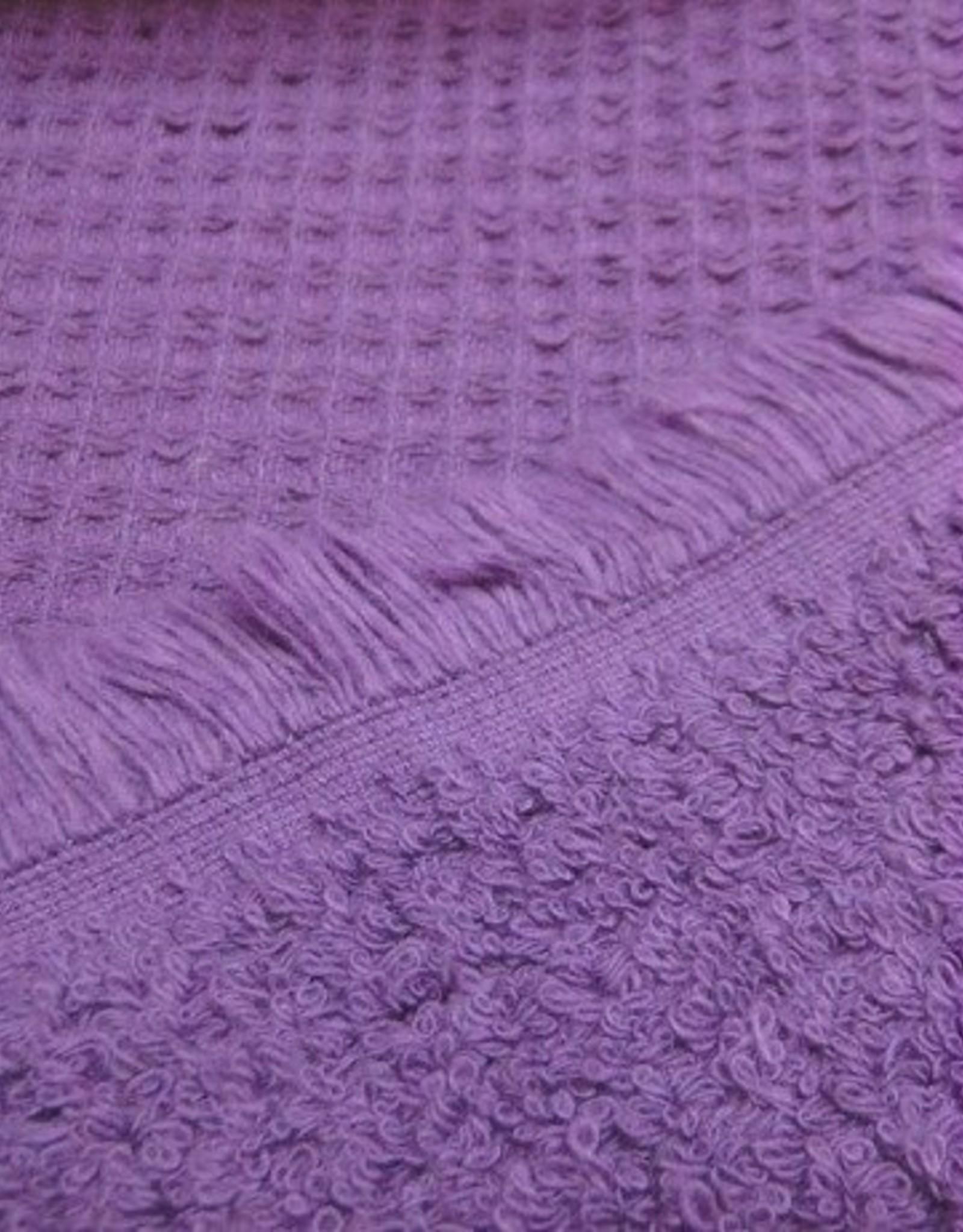Wafel katoen met badstof binnenzijde paars
