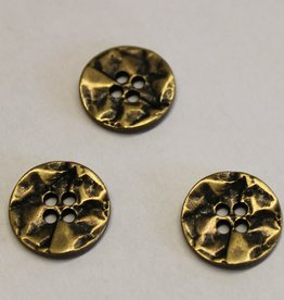 knoop metaal craquelé antiek goud 44mm