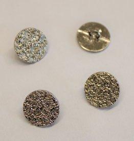 sierknoop metaal craquelé zilver 24mm