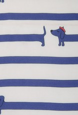 Hilco Bonjour Dackel - blauw gestreept viscose