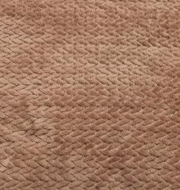 Hilco Imitatie bont prisma oudroze zachte fleece