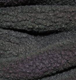 Imitatievacht bouclé zwart