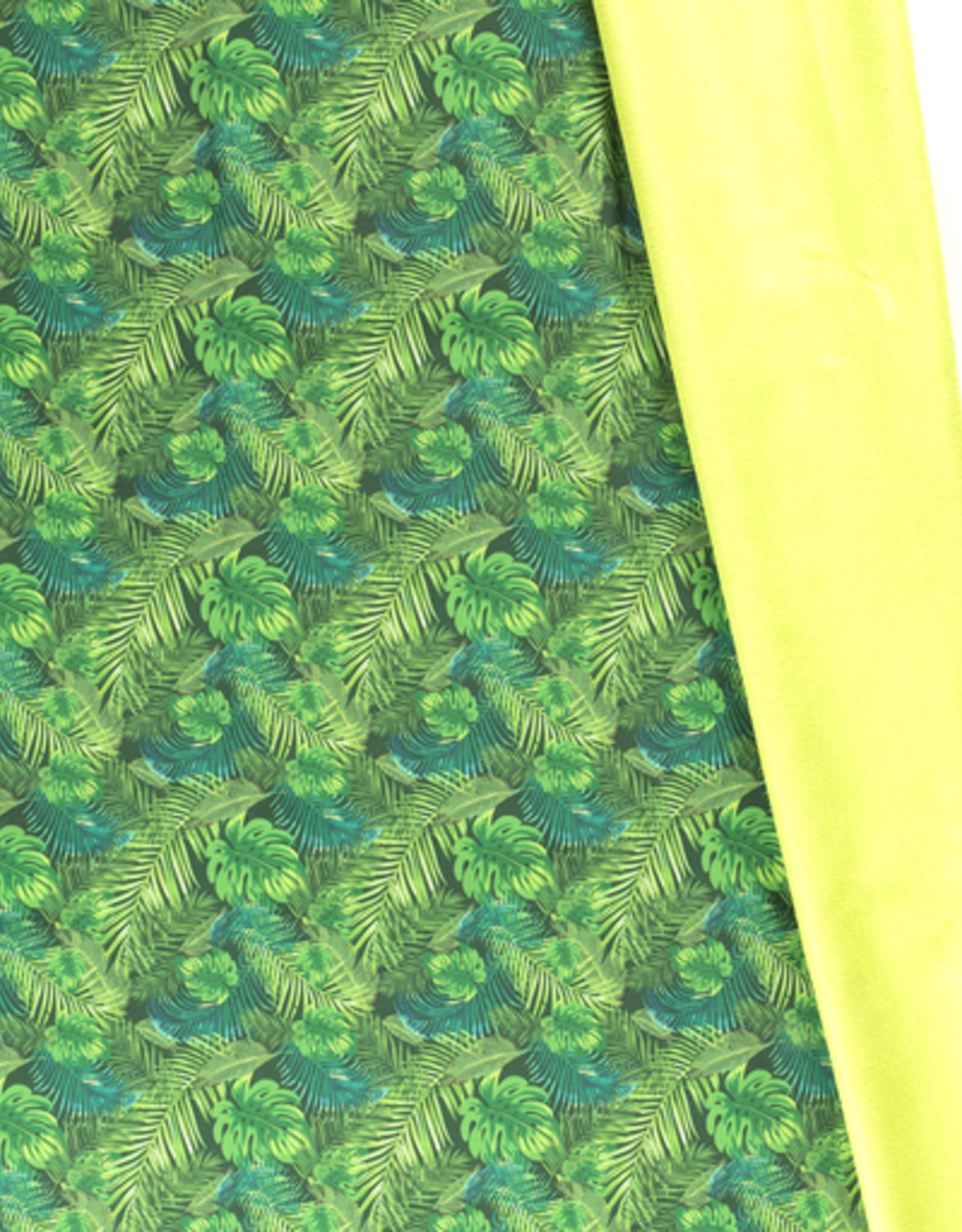 Softshell digital print green plants