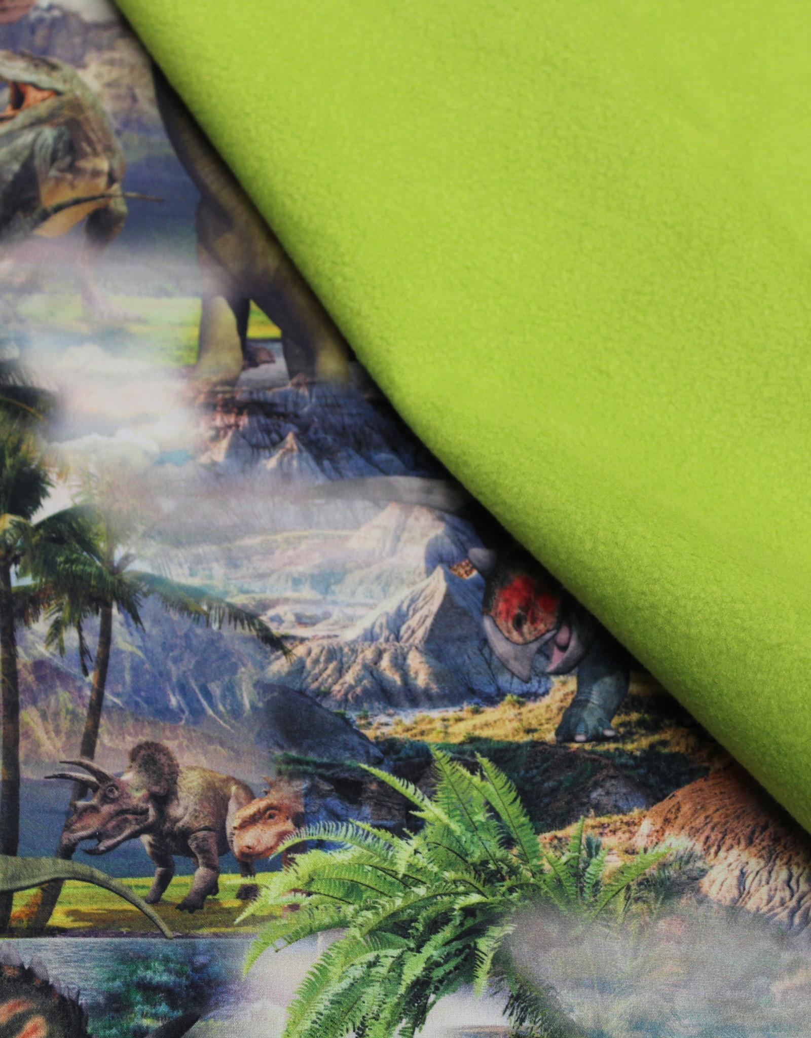 Qjutie Softshell digital dino's green