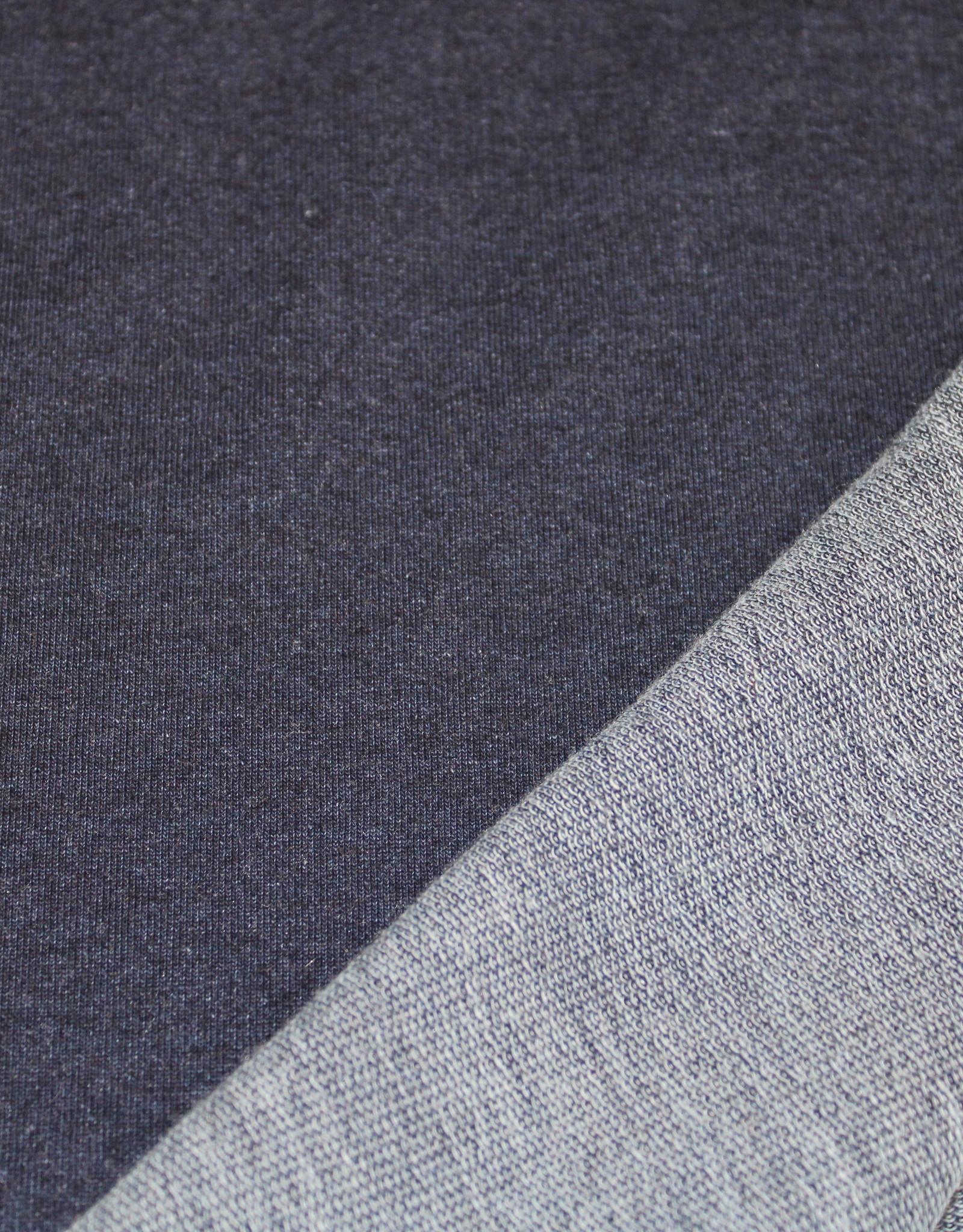 COUPON Stretch jogging donkerste jeanskleur (45cm x 180cm)