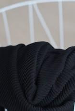 Meet Milk Self-stripe Ottoman Knit Black - Meet Milk