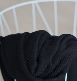 Meet Milk Self-stripe Ottoman Knit Black - Meet Milk