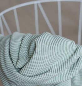 Meet Milk Self-stripe Ottoman Knit Soft Mint - Meet Milk