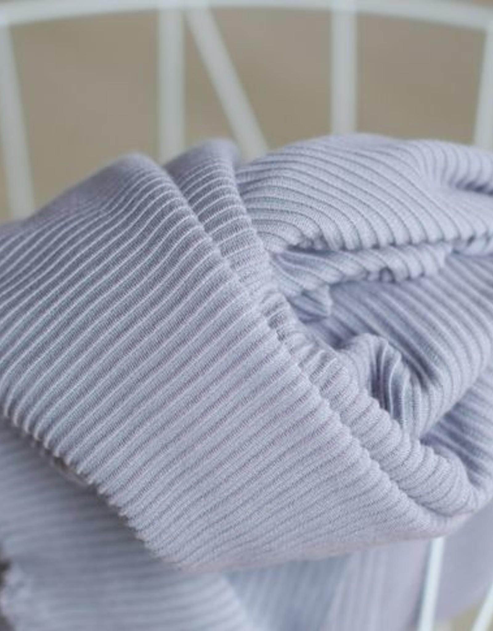 Meet Milk Self-stripe Ottoman Knit Purple Haze - Meet Milk