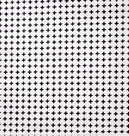 Katoen popeline black&white plus'es