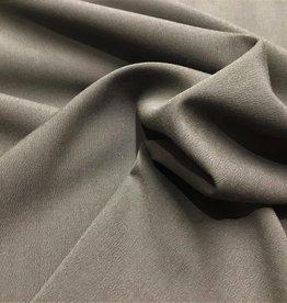 Wol-polyester broekenstof taupe