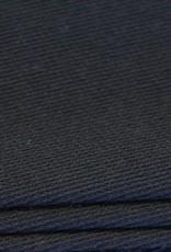 Wol-polyester broekenstof zwart